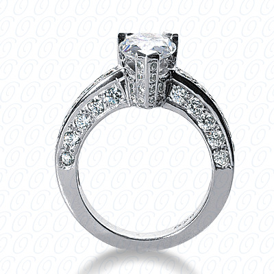 14KP Fancy Cut Diamond Unique <br>Engagement Ring 1.08 CT. Engagement Rings Style