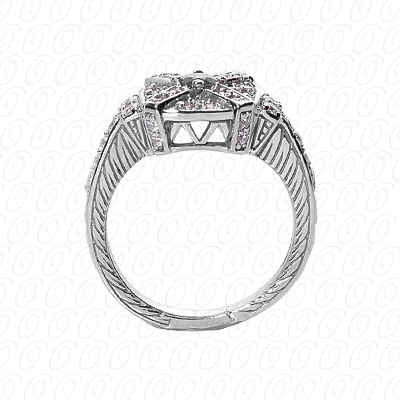 14KP Fancy Rings Cut Diamond Unique <br>Engagement Ring 0.63 CT. Fancy Rings Style