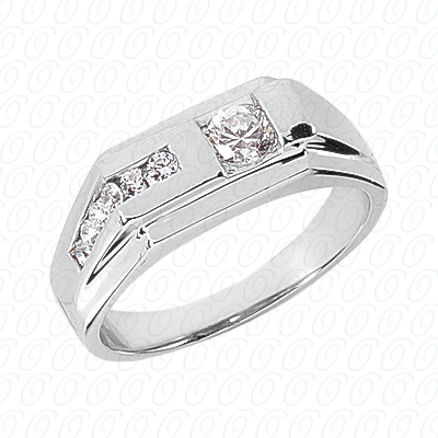 14KP Wedding Bands 0.45 CT. Mens Rings