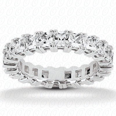 14KP Princess 3.40 CT. Eternity Wedding Bands