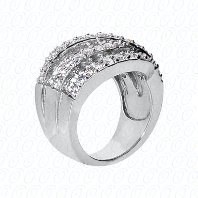 14KP Fancy Rings Cut Diamond Unique <br>Engagement Ring 1.68 CT. Fancy Rings Style
