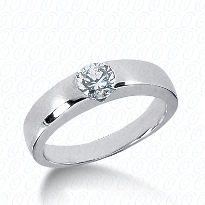 14KP Round Cut Diamond Unique <br>Engagement Ring 0.00 CT. Solitaires Style