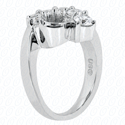 14KP Fancy Rings Cut Diamond Unique <br>Engagement Ring 0.50 CT. Fancy Rings Style