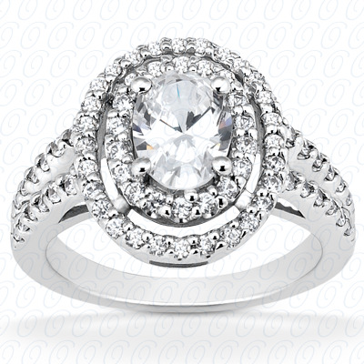 PLAT Oval 0.64 CT. Halo