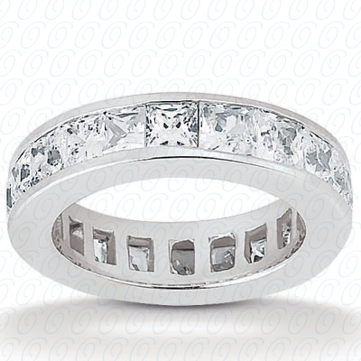14KP Princess Cut Diamond Unique Engagement Ring 2.40 CT. Eternity Wedding Bands Style