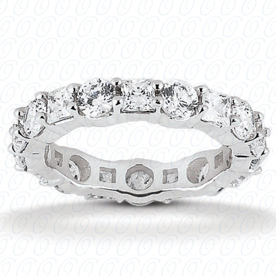 14KW Combinations Cut Diamond Unique Engagement Ring 2.80 CT. Eternity Wedding Bands Style