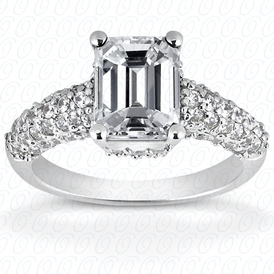 14KW Fancy Cut Diamond Unique Engagement Ring 0.72 CT. Engagement Rings Style