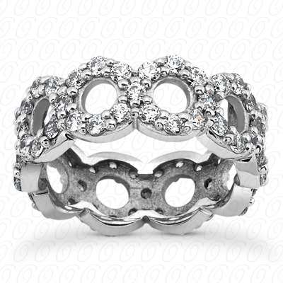 14KP  Round Cut Diamond Unique <br>Engagement Ring 1.08 CT. Eternity Wedding Bands Style