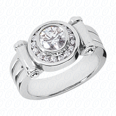 14KP Fancy Styles Cut Diamond Unique Engagement Ring 0.38 CT. Mens Rings Style