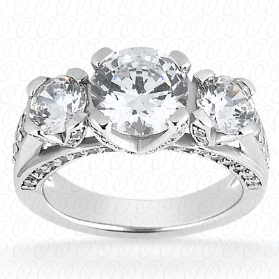 14KP Fancy Cut Diamond Unique <br>Engagement Ring 0.83 CT. Engagement Rings Style