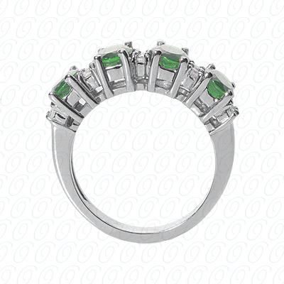 Platinum Combination Cut Diamond Unique Engagement Ring