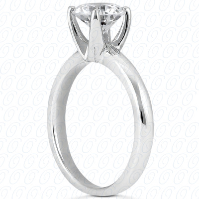 14KP Round Cut Diamond Unique <br>Engagement Ring 0.50 CT. Solitaires Style