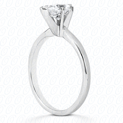 14KP Pear Cut Diamond Unique Engagement Ring