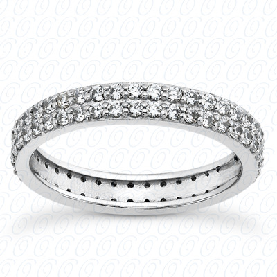 14KP  Round Cut Diamond Unique <br>Engagement Ring 0.74 CT. Eternity Wedding Bands Style