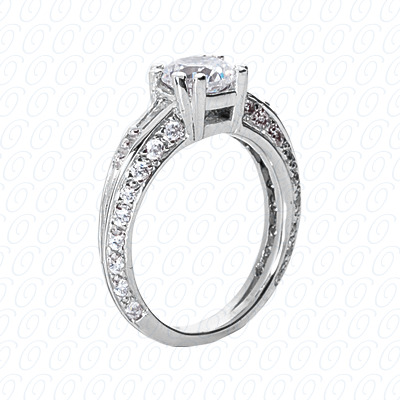 14KP Fancy Rings Cut Diamond Unique <br>Engagement Ring 0.74 CT. Fancy Rings Style