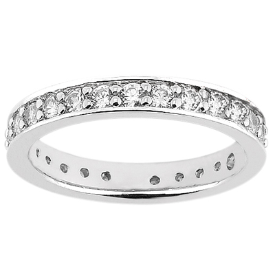 PLAT  Round 0.34 CT. Eternity Wedding Bands