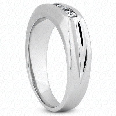 14KP Wedding Bands 0.50 CT. Mens Rings
