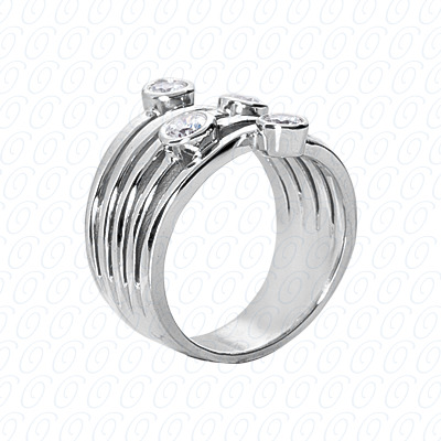 14KW Right Hand Rings Cut Diamond Unique Engagement Ring 0.51 CT. Fancy Rings Style