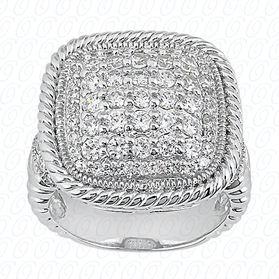 14KP Fancy Rings Cut Diamond Unique <br>Engagement Ring 1.40 CT. Fancy Rings Style