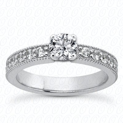 14KP Floral 0.30 CT. Engraved Collection