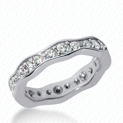 14KP  Round Cut Diamond Unique <br>Engagement Ring 0.88 CT. Eternity Wedding Bands Style