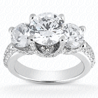 14KP Fancy Cut Diamond Unique <br>Engagement Ring 1.54 CT. Engagement Rings Style