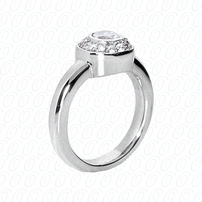 14KP Fancy Rings Cut Diamond Unique <br>Engagement Ring 0.21 CT. Fancy Rings Style