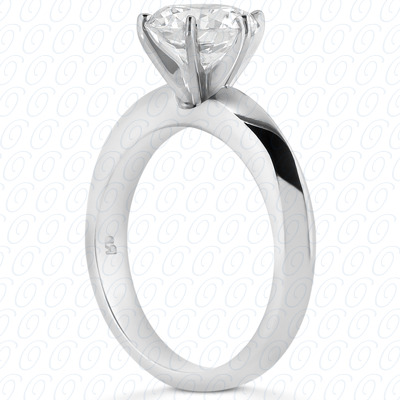 14KP Interchangeable Heads Cut Diamond Unique <br>Engagement Ring 0.00 CT. Solitaires Style
