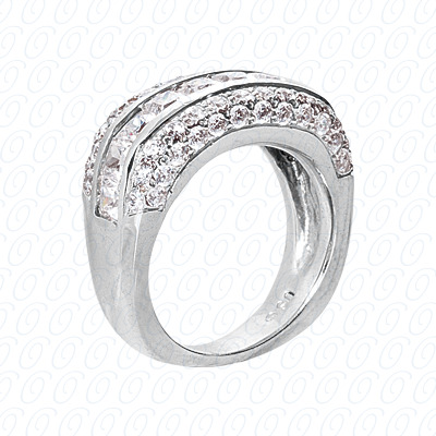 14KP Fancy Rings Cut Diamond Unique <br>Engagement Ring 3.25 CT. Fancy Rings Style