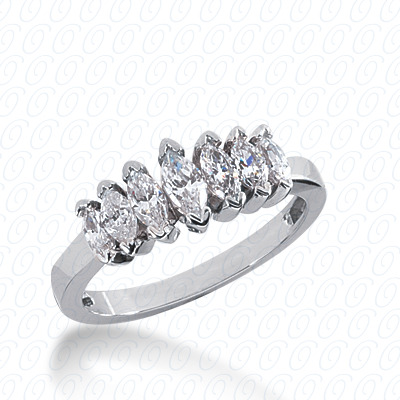 14KP Marquise Cut Diamond Unique <br>Engagement Ring 0.97 CT. Wedding Bands Style