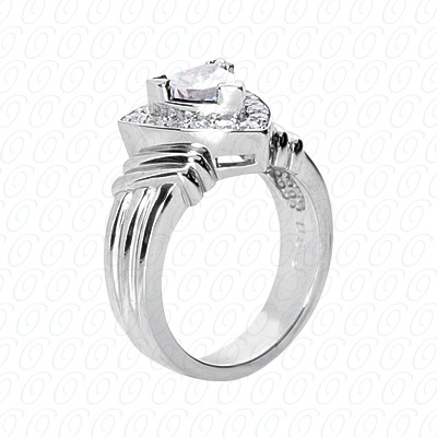 14KP Fancy Rings Cut Diamond Unique <br>Engagement Ring 0.76 CT. Fancy Rings Style
