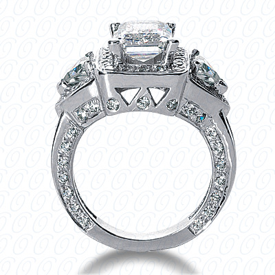 14KW Fancy Cut Diamond Unique Engagement Ring 2.37 CT. Engagement Rings Style