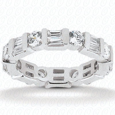 14KW Combinations Cut Diamond Unique Engagement Ring 1.62 CT. Eternity Wedding Bands Style