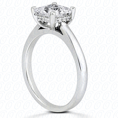 14KP Princess Cut Diamond Unique <br>Engagement Ring 0.06 CT. Solitaires Style