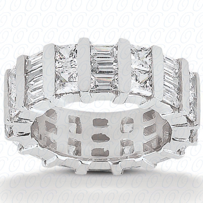 14KW Combinations Cut Diamond Unique Engagement Ring 4.48 CT. Eternity Wedding Bands Style