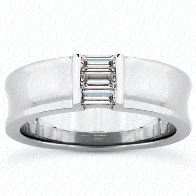 14KP Baguette 0.36 CT. Wedding Band Sets