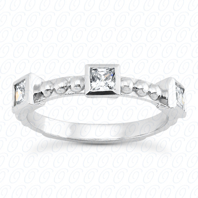 14KP Fancy Rings Cut Diamond Unique <br>Engagement Ring 0.51 CT. Fancy Rings Style