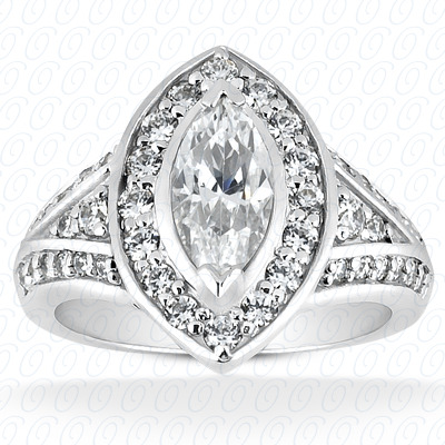 PLAT Marquise 0.49 CT. Halo