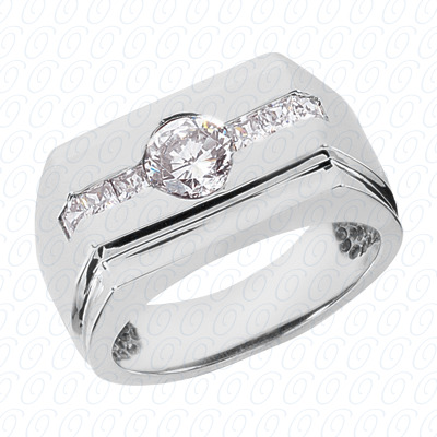 14KP Fancy Styles Cut Diamond Unique Engagement Ring 0.42 CT. Mens Rings Style