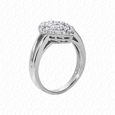14KP Fancy Rings Cut Diamond Unique <br>Engagement Ring 0.48 CT. Fancy Rings Style