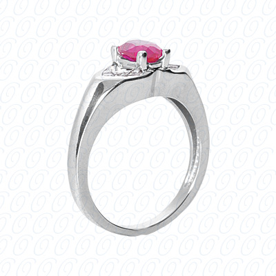 14KP Fancy Rings Cut Diamond Unique <br>Engagement Ring 0.20 CT. Fancy Rings Style