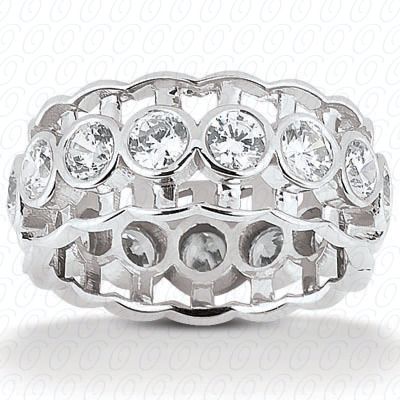 14KP  Round Cut Diamond Unique <br>Engagement Ring 2.10 CT. Eternity Wedding Bands Style
