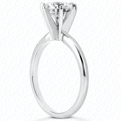 14KP Round Cut Diamond Unique Engagement Ring