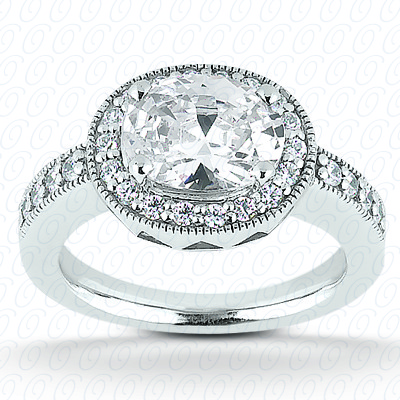 PLAT Oval 0.30 CT. Halo