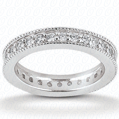 14KP  Round Cut Diamond Unique <br>Engagement Ring 0.45 CT. Eternity Wedding Bands Style