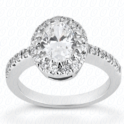 PLAT Oval 0.20 CT. Halo