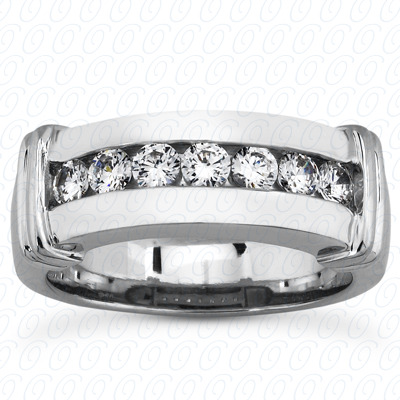 14KP Round Cut Diamond Unique <br>Engagement Ring 0.49 CT. Wedding Band Sets Style