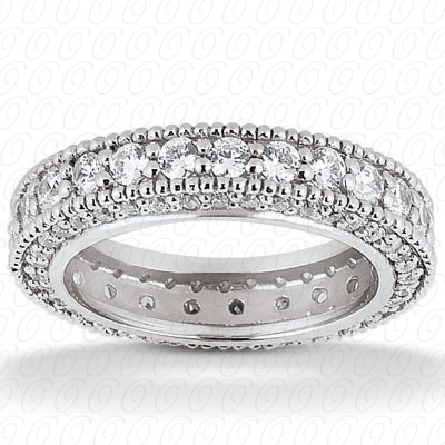 14KP  Round Cut Diamond Unique <br>Engagement Ring 0.97 CT. Eternity Wedding Bands Style