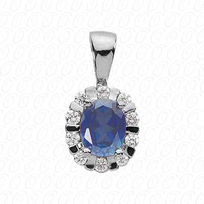 PLAT  Color Stones 0.65 CT. Pendants
