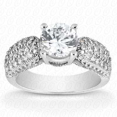 14KP Fancy Cut Diamond Unique <br>Engagement Ring 0.30 CT. Engagement Rings Style